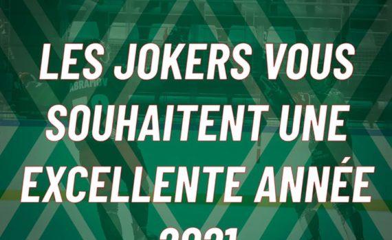 les jokers vous souhaitent une excellente année 2021